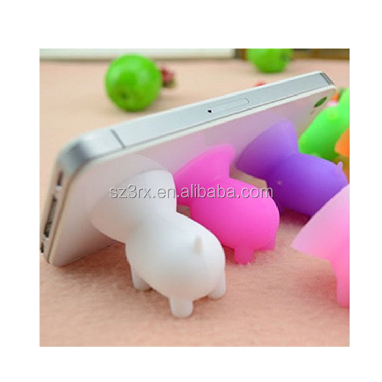 Lovely Cute Silicone Pet Pig Cell Phone Bracket Phone Stand Holder for All iPhone/Make design phone stand holder China Factory