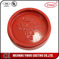 FM/UL certificated China manufacturing grooved pipe end cap