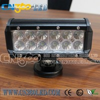 12 X 3W off road led light bar 3600lm sxs double row off road led light bars