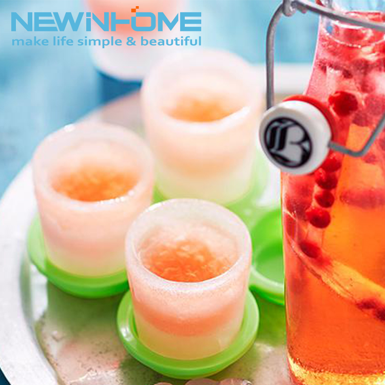 Wholesale Price Custom Plastic PP Ice Cube Maker Ice Shot Glass Mold