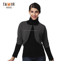 Women Knitted Fancy Shrug Sweater, Winter Warm High Neck Skintight Sweater