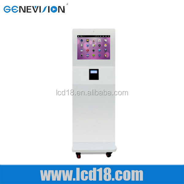 15 inch muti-function LCD attendance system advertising all in one pc with card reader