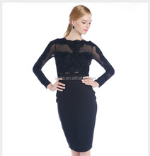 OEM Service/Stock Hot Ladies O-neck Short Black Lace Skirt