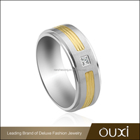 OUXI Accept custom rings fancy large size stainless steel rings