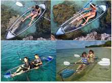 cheap transparent plastic canoe kayak