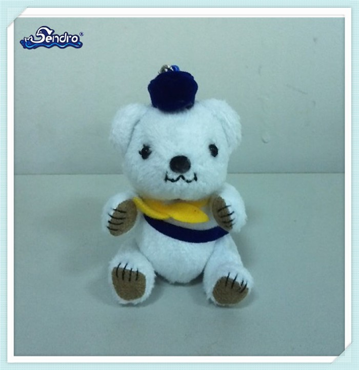 competitive price mini bear type stuffed toy keychain wholesale