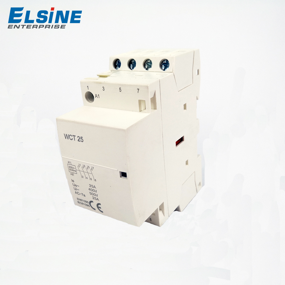 16A 25A 63A 100A Manual style safe and reliable ac modular contactor WCT-25 4P