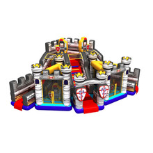 Attractive kids air playground commercial jumpy house rentals inflatable castle
