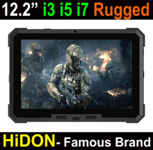 Highton Cheapest Factor Linux OS12.2 Inch i3-6100U 4G DDR ram+128G SSD Rugged tablets RJ45 ethernet port Rugged tablet computer