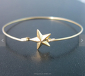 Fashion shiny beautiful star bracelet jewelry,silver,gold and rose gold plated star bangle