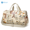 leisure wholesale shoulder coated oilcloth printed fabric lady fashion shoulder bag