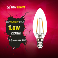 2015 China Manufacturer 360 degree C35 e14 2w led bulb lamps that look like candles