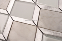 Hot sale new trend stainless steel mix glass mosaic tile triangular