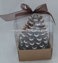 pine cone shape candle