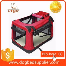 Foldable steel pipe Hot Sale Travel Pet Carrier house dog kennel