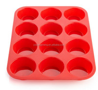 Cook Essentials Non Stick 12-Cup Muffin Silicone Cake Pan