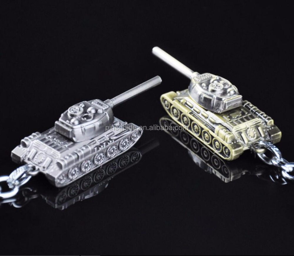 Factory style wholesale full 3DMetal Keychain of online game World of Tanks Key chain