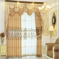 Jacquard fabric curtain with polyester fabric bedroom curtain