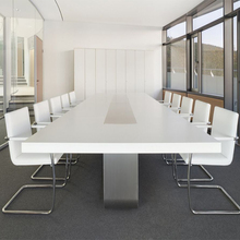 Luxury Customized Office Project 12 Seats Solid Surface Conference Table Chairs