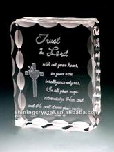 the Bible crystal cross book gift