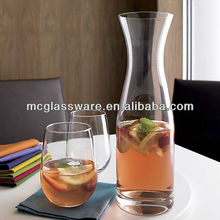 Handblown carafe and tumbler glass