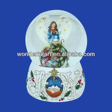 2014 religious snow globe for christmas decoration