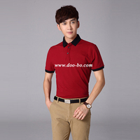 Wholesale Short Sleeve Polyester / Cotton fashion polo t shirts for men custom t shit with OEM logo