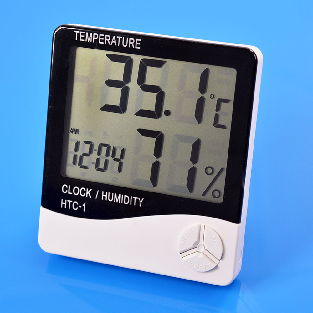 Temperature Instruments Indoor Outdoor LCD Digital Thermometer Humidity Meter