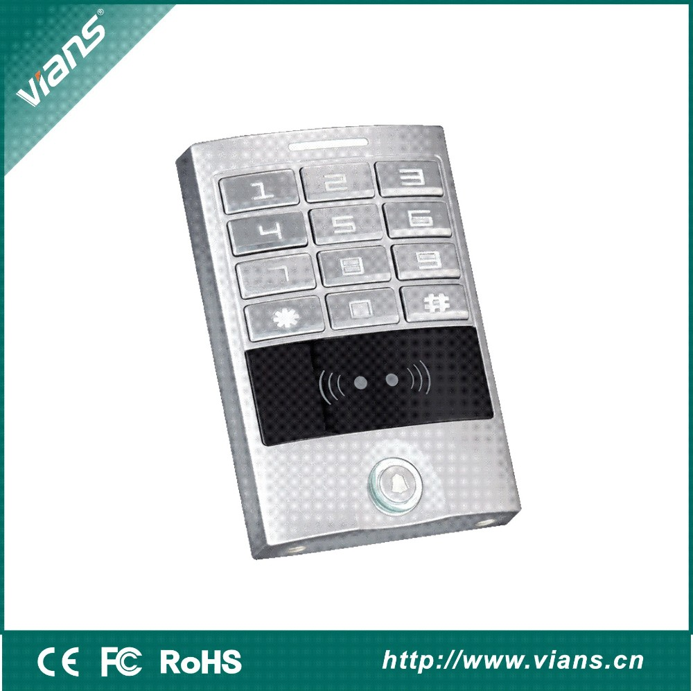 metal digital access control keypad with door bell rfid card reader buy digital access keypad. Black Bedroom Furniture Sets. Home Design Ideas