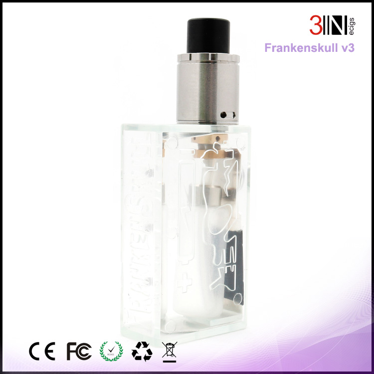 2017 New Color Transparent frankenskull box mod