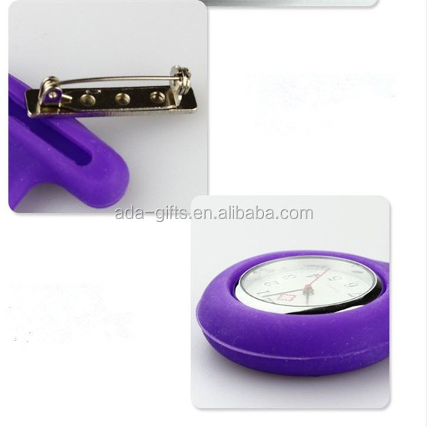 Silicone Nurse Brooch Fob Watch