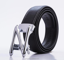 Factory High Quality Automatic Genuine Leather Black Man Belt With Buckle