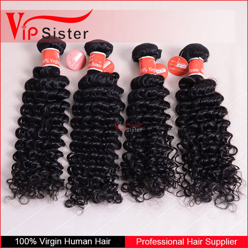 No tangle no shedding full cuticle 100% virgin watr wave human hair wet and wavy indian remy hair weave