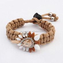 new crystal satin cord bracelet manufacturer, cheap jewelry twisted cord bracelet