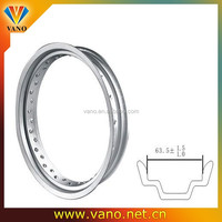 China Market MT2.5 Motorcycle Chrome Rims 17