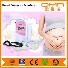 New Anazon Ebay hot selling pocket fetal doppler waterproof Angelsounds fetal dopper CE tested