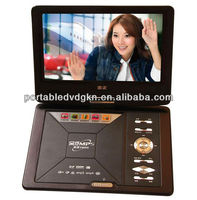 Wholesale cheap portable HD MI DVD player with digital TV tuner USB FM transmitter kids DVD portable player