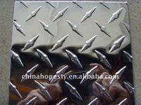 1100 aluminium tread plate/aluminum threaded plate weight