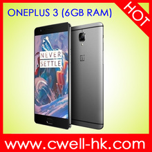 Android 6.0 DASH Fast Charging smartphone Oneplus three 6GB RAM /64GB ROM Dual Band WiFi Quad core ultra slim mobile phone