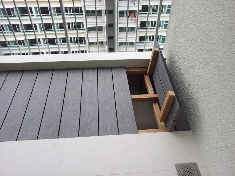 Water Proof Balcony Flooring Terrace Decking Wood Plastic