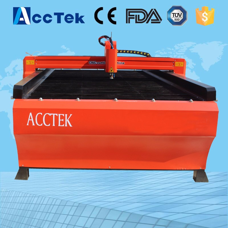 CNC Plasma cutter AKP1530 machine for cutting steel plate
