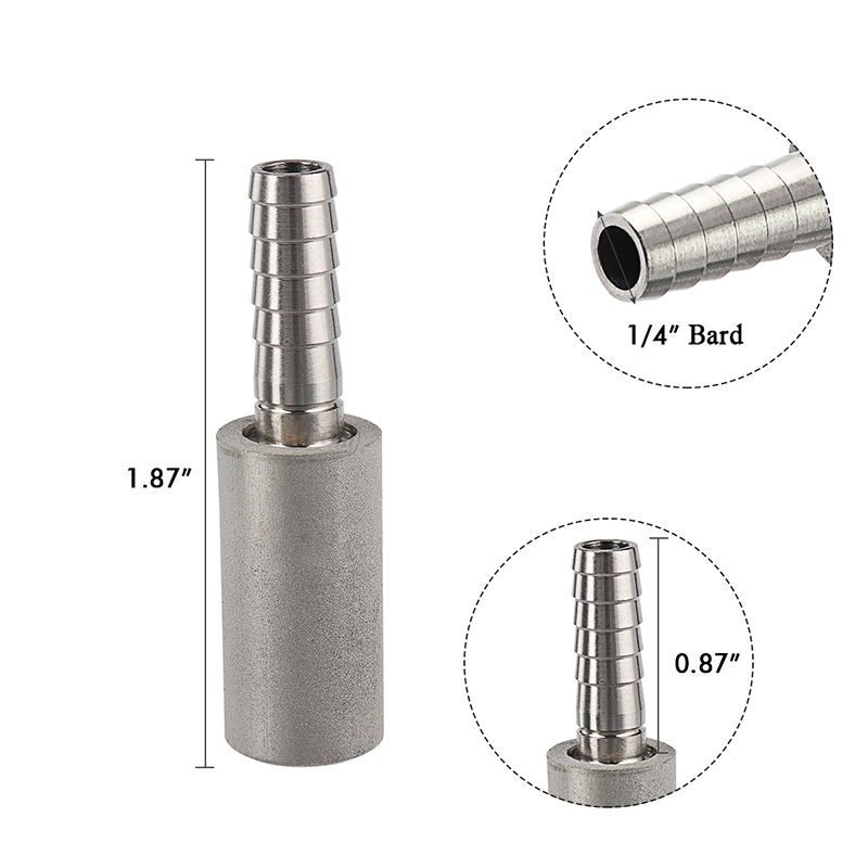 Stainless Steel  2 /0.5 Micron Homebrew Oxygenation Diffusion Stone Beer Carbonation Aeration for Beer Wine Tools Bar tool
