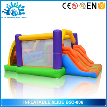 High Quality 0.55mm PVC Inflatable Bouncer with small slide on sale