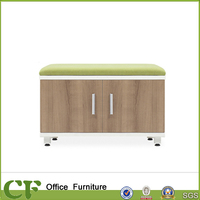 Fashion style office low filling bookcase with aluminum handle and adjustable feet