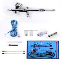 Dual Action Airbrush comperssor Kit 0.2mm/0.3mm/0.5mm Needle Air Brush Spray Gun body Paint Art temporary tattoo