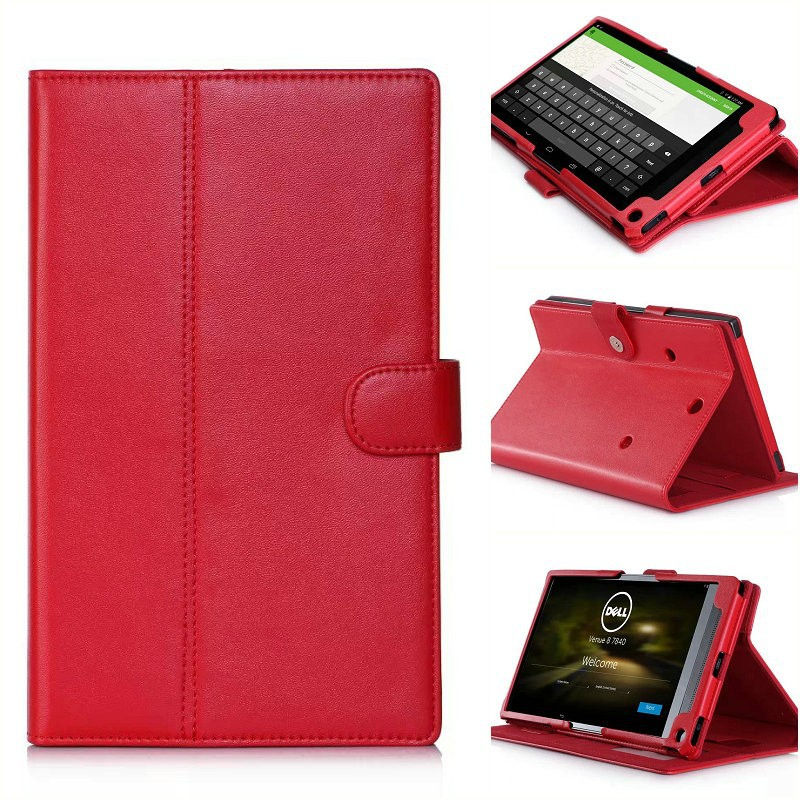 Rotating Case for Dell Venue 8 8.4 Tablet PU Leather Folio Skin Cover Case