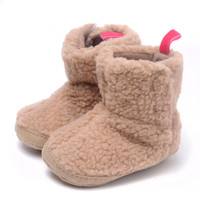 new arrival soft sole infant baby keep warm winter boot shoes