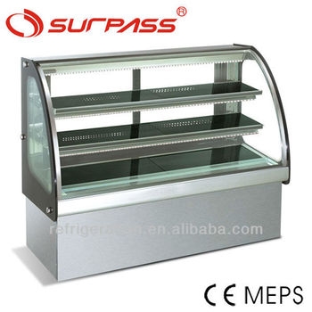 Hot sales SG430FC Surpass Curved glass Cake Display Cabinet