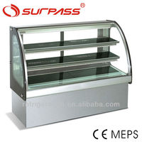 SG430FC Surpass Curved glass Cake Display Cabinet