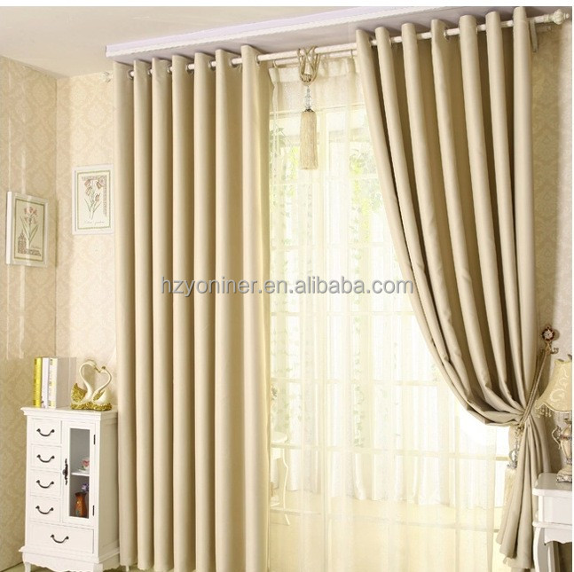 top sale solid piece dyed fancy hotel window blackout curtains manufacture